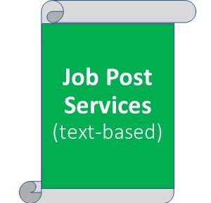 Job Post Services - on the website